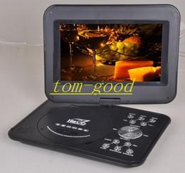 Wholesale HOT DVD multifunción casero Portable de DVD TV de apoyo puerto usb tarjeta SD jugar y giratoria alta definición de pantalla llevó