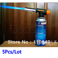 Wholesale 5Pcs Hiking Camping Welding Gas Torch Flame Gun Lighter