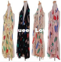 Wholesale New Fall Winter HOT Bohemia Chiffon Sweet Scarf Neck Kerchief Waves Scarf Wrap Pushmina S size cm RJ1895