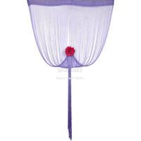 Wholesale New cm cm Light Purple String Panel Line Curtain Wall Door Window Curtain Room Divider Wedding Drapery