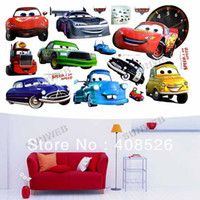 Wholesale Cartoon car Pattern Removable Wall Decor Sticker Art decor Children room free shpping