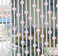 Wholesale crystal bead curtain for entranceway partition curtains glass handmade door curtain imitated crystal curtain