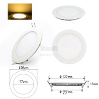 Colored Bulbs 6 330 5pcs Lot Wholesale New 6W AC100-265V Warm White Recessed Ceiling Round Panel Down Light Bulb Lamp 15563