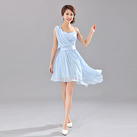 Wholesale New Arrival Hot bride bridesmaid formal dress bridesmaid dress and sisters short design chiffon formal dress