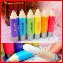 Wholesale Crayon Moisturizing Lip Balm Super lovely colour Pen Gift Present for Kids gitf High Quality