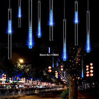 Wholesale Blue CM Meteor Shower Rain Tubes Lights LED Christmas Light Wedding Garden Decoration Lighting V US TK1328