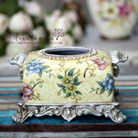 Wholesale Fashion american markor furnishings binaural vintage quality tissue box home decoration