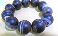 Wholesale larger mm inch genuine agate gemstone round ball brown crab veins jewelry beads bracelet