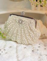 Wholesale 2014 Exquisite White Evening Bags Pearl Clutch Bag Personalized Handbags Dress Party Dress Bag Noble Elegant Pearl Clutch Bag