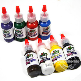 Wholesale Complete set of Top Colors oz Tattoo Ink Pigment GBL WS I320 USA warehouse Tattoo Colors Kits