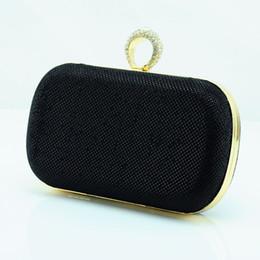 Wholesale 2014 Black New Ring Diamond Clutch Evening Hand Bags Bridal Purse Handbag Wedding Party Bags Box