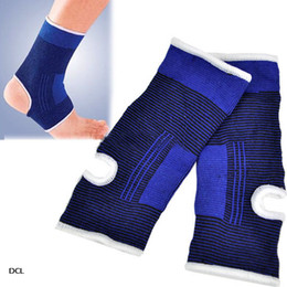 Wholesale 10pcs Elastric Ankle Support Stretchy Brace Guard Sports Safety Blue Outdoor Athletic Accs Fit Basketball Football DCL