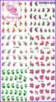 Wholesale FLOWER amp ROSE MEDIUM SHEET WATER DECAL NAIL ART NAIL TATTOOS STICKER