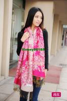 Wholesale Korean version of the tassel scarf shawl ladies long warm ethnic models A102 dual Putaohua