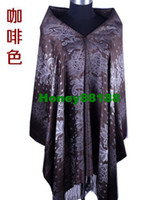 Wholesale autumn and winter scarves jacquard explosion shawl female flowers are blooming