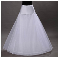 Cotton white cotton dress - Hot sale Cheapest A Line White Wedding Petticoats Free Size Bridal Slip Underskirt Crinoline White For Wedding Dresses