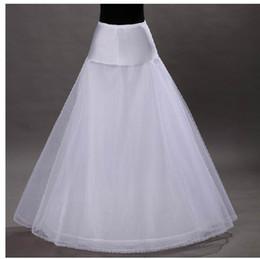 Wholesale Hot sale Cheapest A Line White Wedding Petticoats Free Size Bridal Slip Underskirt Crinoline White For Wedding Dresses