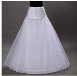 Wholesale Hot sale Cheapest A Line White Wedding Petticoats Free Size Bridal Slip Underskirt Crinoline White For Wedding Dresses
