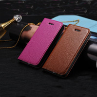 Wholesale Crown Leather Case For iPhone S Folio Flip Simpleness Book Style Pouch Cover with Stand Function Free DHL Shipping