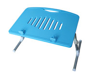 Wholesale ABS plastic portable Adjustable Legs Bed Couch laptop Table with Cup holder and pen holder