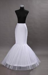Wholesale 2015 Mermaid Petticoat slip Hoop Bone Elastic Wedding Dress Crinoline Trumpet Wedding Dresses Online White