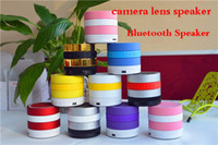 Wholesale ZZ Free DHL Mini Camera Lens Super Bass Bluetooth Speaker Wireless Speakers FM Radio TF Card Music Player For Phones
