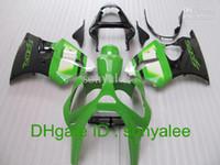 Wholesale Free custom green white black bodywork for KAWASAKI ZX6R ZX R R ZZR600 fairing kit gifts