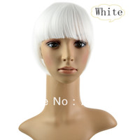 Wholesale New Women s Straight Clip on Front Neat Bang In Fringe Hair Piece Extension White Color