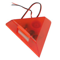 Wholesale Triangle Strobe light Siren with flash Alarm Speakers Horn Security V F1032C