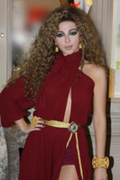 Free Shipping myriam fares dresses Chiffon Red Carpet One Lo...