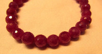 aa ruby - Genuine Raw Ruby Bracelet Ruby Beads gemstone AA grade mm inch round ball faceted Bracelete suippers