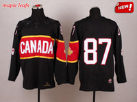Wholesale 2014 Olympic Canada Jerseys Crosby Team Canada Jerseys High Quality Stitched Hockey Wears with Gold Leafs Best Olympic Hockey Jerseys