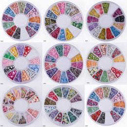 Wholesale Fashion D Polymer Clay Nail Art Mixed Colors Nail Salon Box Set Style Choose HAD