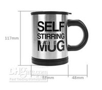 Plastic tea cups - Household Automatic Stainless Plain Lazy Self Stirring Mug Mixing Tea Cup Coffee Mug Tea Coffee