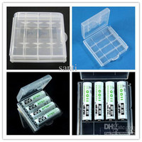 Wholesale AA AAA case Battery case batteries cases Portable Hard Plastic Case Holder Storage Box