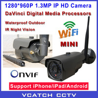 Wholesale ONVIF P HD Mini Wifi Dome IP Camera MP Wireless Network CCTV Camera IR Night Vision P2P Plug Play IR CUT VC MIC960TJ Wif