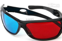 Wholesale Popular Hot HOT Red amp Blue D Glasses Viewer Plastic Frame Resin Lens Dimensional Anaglyphic Digital Video Glasses