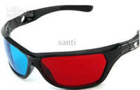 Wholesale Fashion Hot High Quality Red amp Blue D Glasses Viewer Plastic Frame Resin Lens Dimensional Anaglyphic Digital Video Glasses