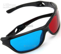 Wholesale New Arrive Red amp Blue D Glasses Viewer Plastic Frame Resin Lens Dimensional Anaglyphic Digital Video Glasses