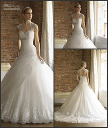 Wholesale 2014 New Arrival Moonlight Bridal Wedding Dress Gown Ball Gown Appliqued Backless Lace Wedding Dress ZH122701