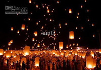 Wholesale Sky Lanterns BIRTHDAY WEDDING PARTY Wishing Lamp Kongming lantern Chinese paper lantern