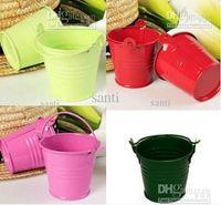 Wholesale Chocolate Candy Pail Mix Tin pails Mini Pails wedding favors mini bucket tin box favor box gift box