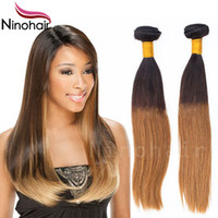 Wholesale Stema Ombre Blonde Hair Products Brazilian Virgin Straight Hair Extensions Virgin Ombre Hair China Cheap Price New Style