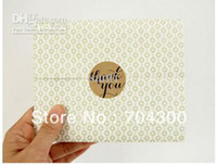 Wholesale Envelopes Card Be Thank You Typeface Brown Kraft Stickers