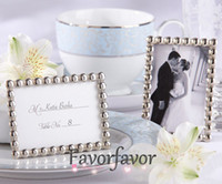 Wholesale Silver Metal Pearls MINI Photo Frame Wedding Party Favors Place Card Holder Cute Mini Frame