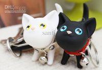 Wholesale Popular hot Ring male car Chain lovers key Fashion Cat keychain key