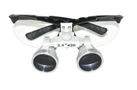 CE   Brand New Black Dentist Dental Surgical Medical Binocular Loupes 2.5X 420mm Optical Glass Loupe