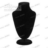 Wholesale LLFA4009 Black Velvet Bust Necklace Jewellery Display Stand jewelry holder