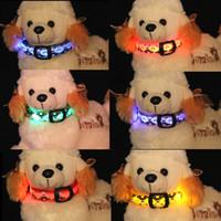 Skull partten Nylon Pet LED dog collars LED pet Flashing Nig...