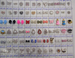 Wholesale Mini manicure Alloy Jewelry DIY Rhinestone Glitters Slices D nail art manicure designs bow